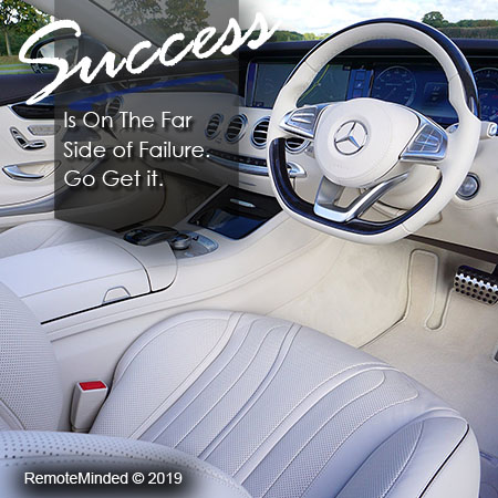 Success is on the far side of failure. Go Get it.  Get motivated and subscribe for success today!