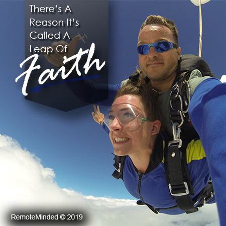 There's a reason it's called a leap of faith. Get motivated and subscribe for success today!